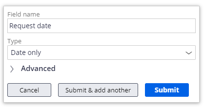 Request date field configured