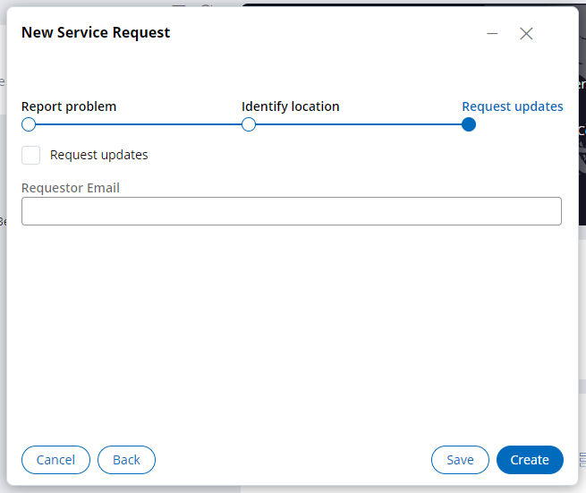 Request updates view at runtime