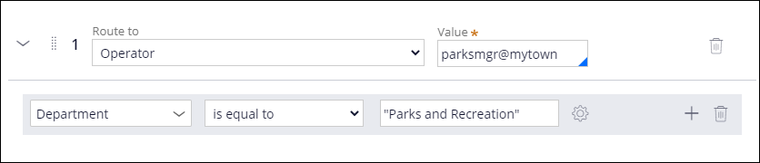 Routing logic for the Parks and Recreation department.