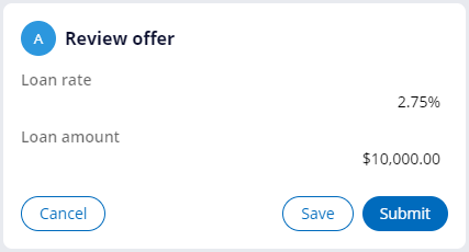 Review offer of loan rate 2.75%