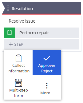 Add an Approve/Reject step