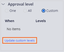 Update custom levels link on an Approval step based on Reporting structure