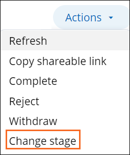 Change stage
