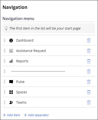 Navigation menu of Auditor portal