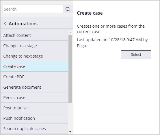 Create case step