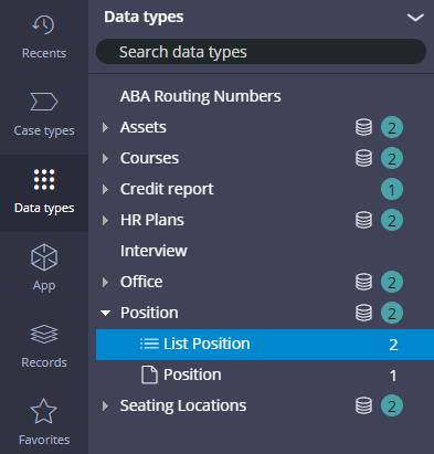 Position data type