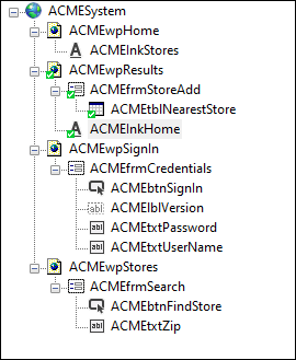 Screenshot showing the final object hierarchy