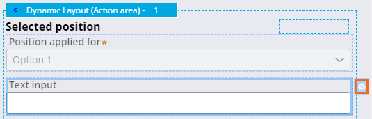 Section text input configuration