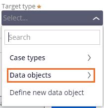 Target type drop-down selection
