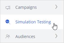 Simulation testing option