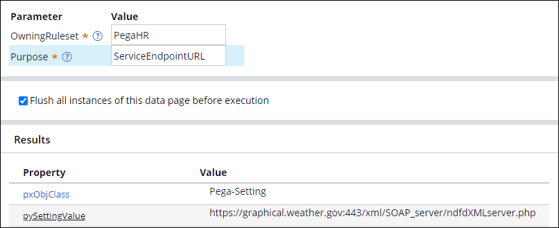 D_pxGetApplicationSettingValue data page results