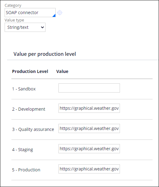 Application settings value types