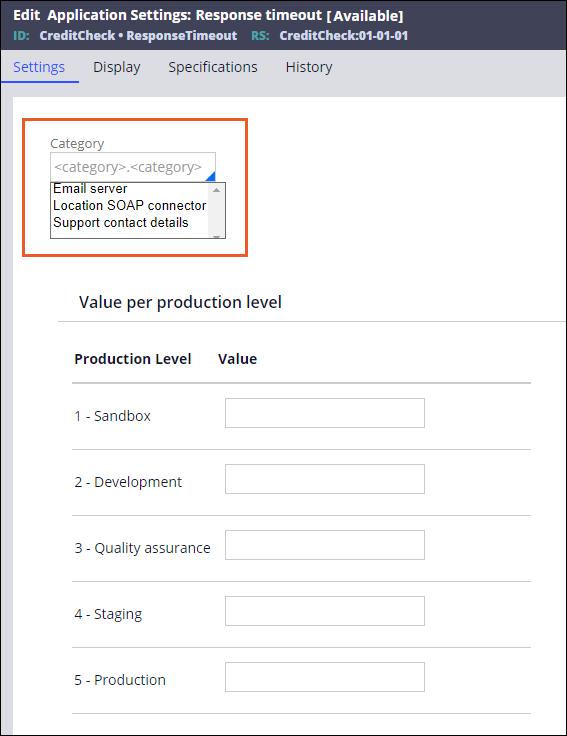 Application Settings creation
