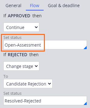 Assess candidate step with the case status of Open-Assessment