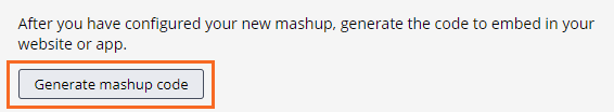 Generate mashup code button