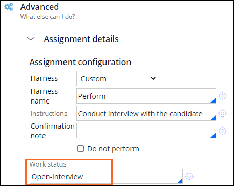 Conduct interview subprocess step with the case status of Open-Interview