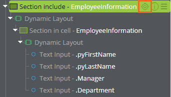 Top-level EmployeeInformation section in the Live UI pane