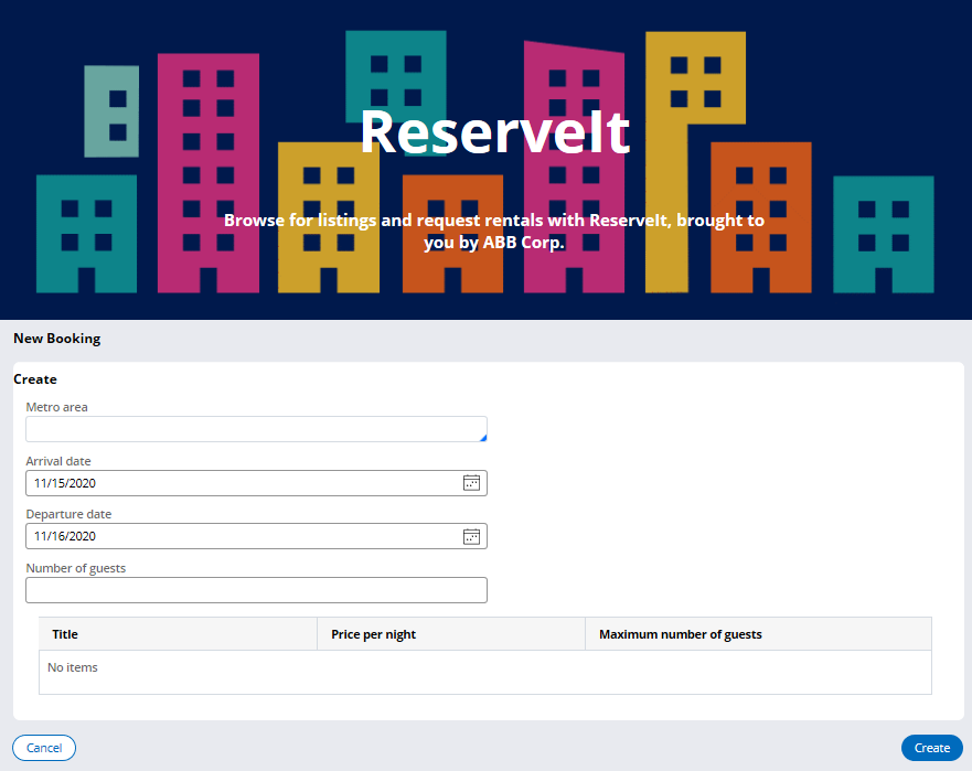 ReserveIt web mashup confirmation with Booking case