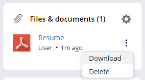User files and documents