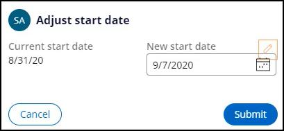 Adjust start date