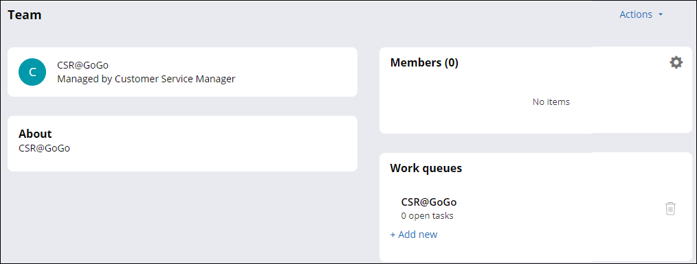 Details view for the CSR@GoGo team.