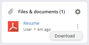 Recruiter FIles and Documents