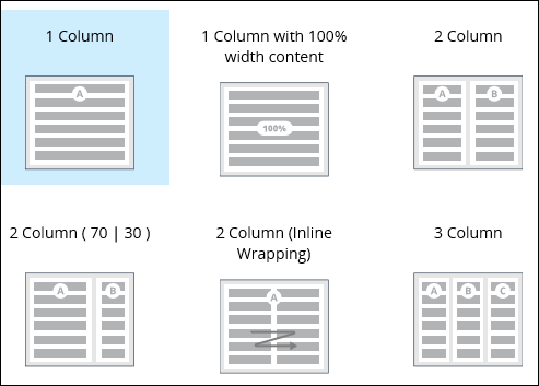 out-of-the-box layout templates