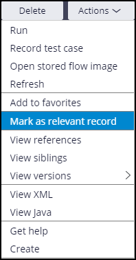 Mark as relevant record