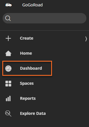 Navigation pane for the User Portal with the Dashboard selection highlighted