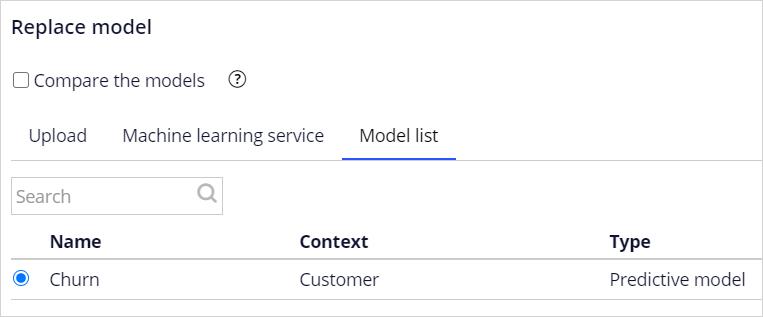 Select model