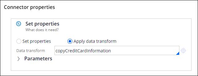 Apply data transform in a flow rule