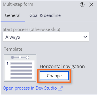 change the navigation content on multi step form