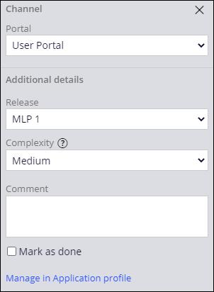 Configure release for user portal