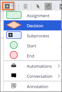Add a decision shape to flow