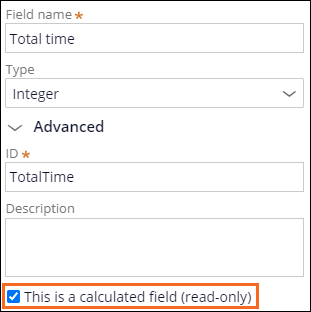 This is a calculated field (read-only) checkbox