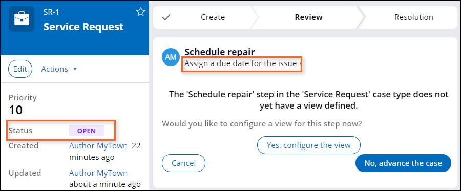 case-status-challenge-schedule-repair-note-openstatus