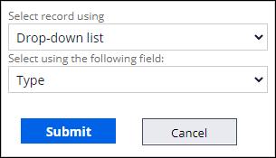 Request type data relationship configuration