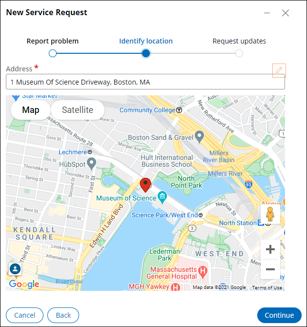 Identify location view at runtime