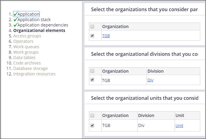 Organizational element