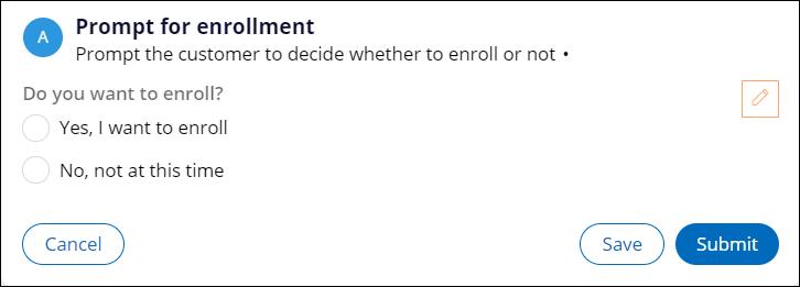 Prompt for enrollment