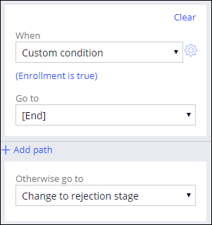 Properties pane for a decision shape in the Validate request process