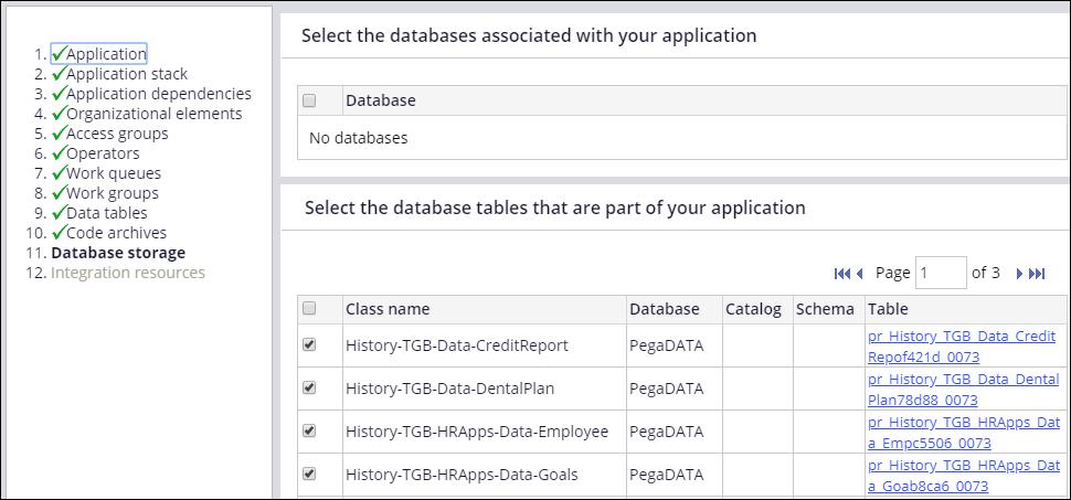 Wizard data storage