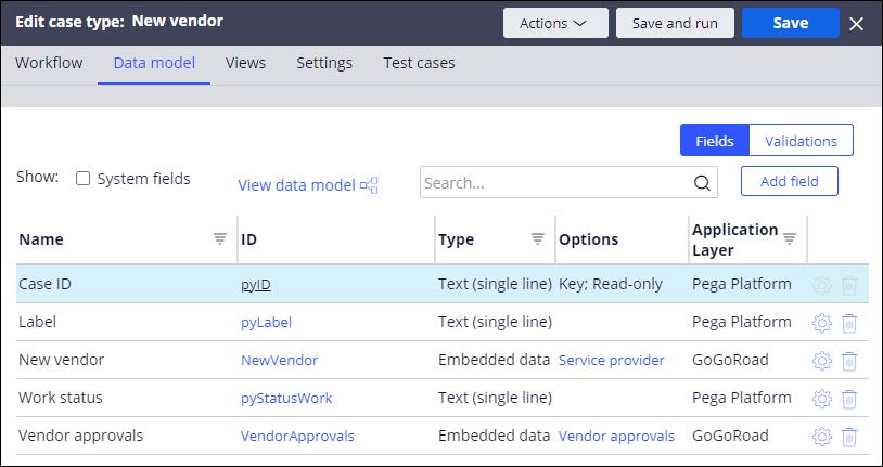 New vendor data model