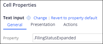 Filing status field with .FilingStatusExpanded selected