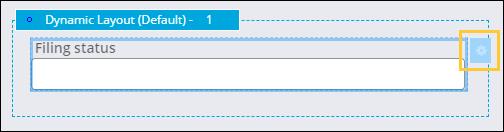 Filing status text field