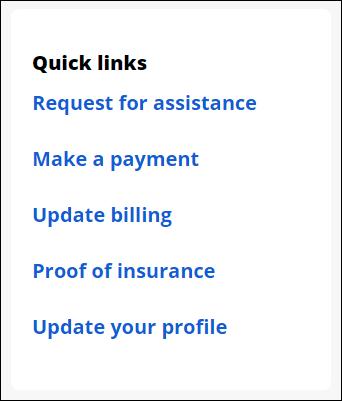 quick links request assistance
