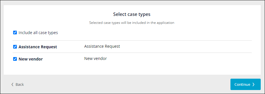 select all case types