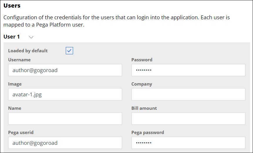 User 1 form