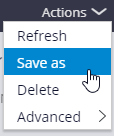 save as data set