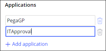 Image depicts how to add an application on the Application page
